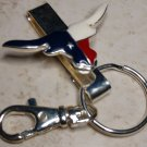 Texas Longhorn Crystal Keychain Finderm