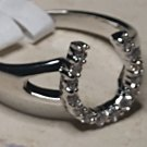 Western Horseshoe Crystal Ring Size 7