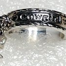 Western Cowgirl Boot Star Crystal Ring Size 8