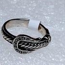 Belt Buckle Crystal Ring Size 8