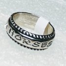 Western I Love Horses Crystal Ring Size 6