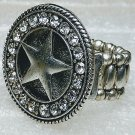 Chunky Western Crystal Star Ring