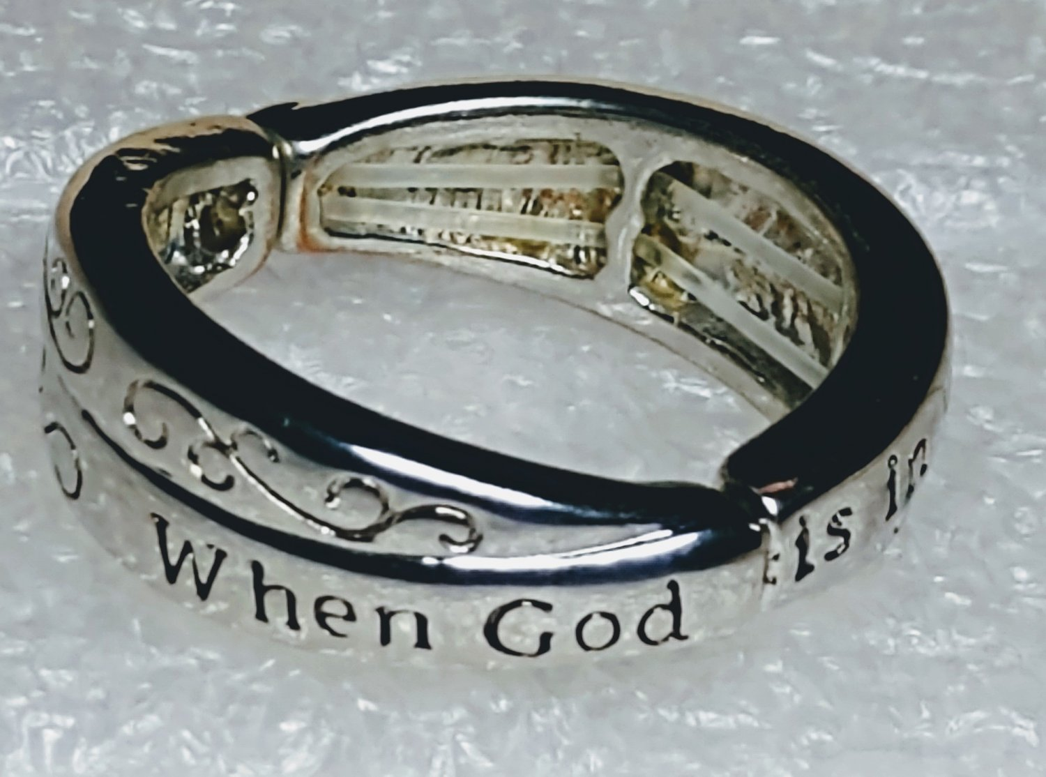 Religious When God is in Your Heart God is in Your Life Ring
