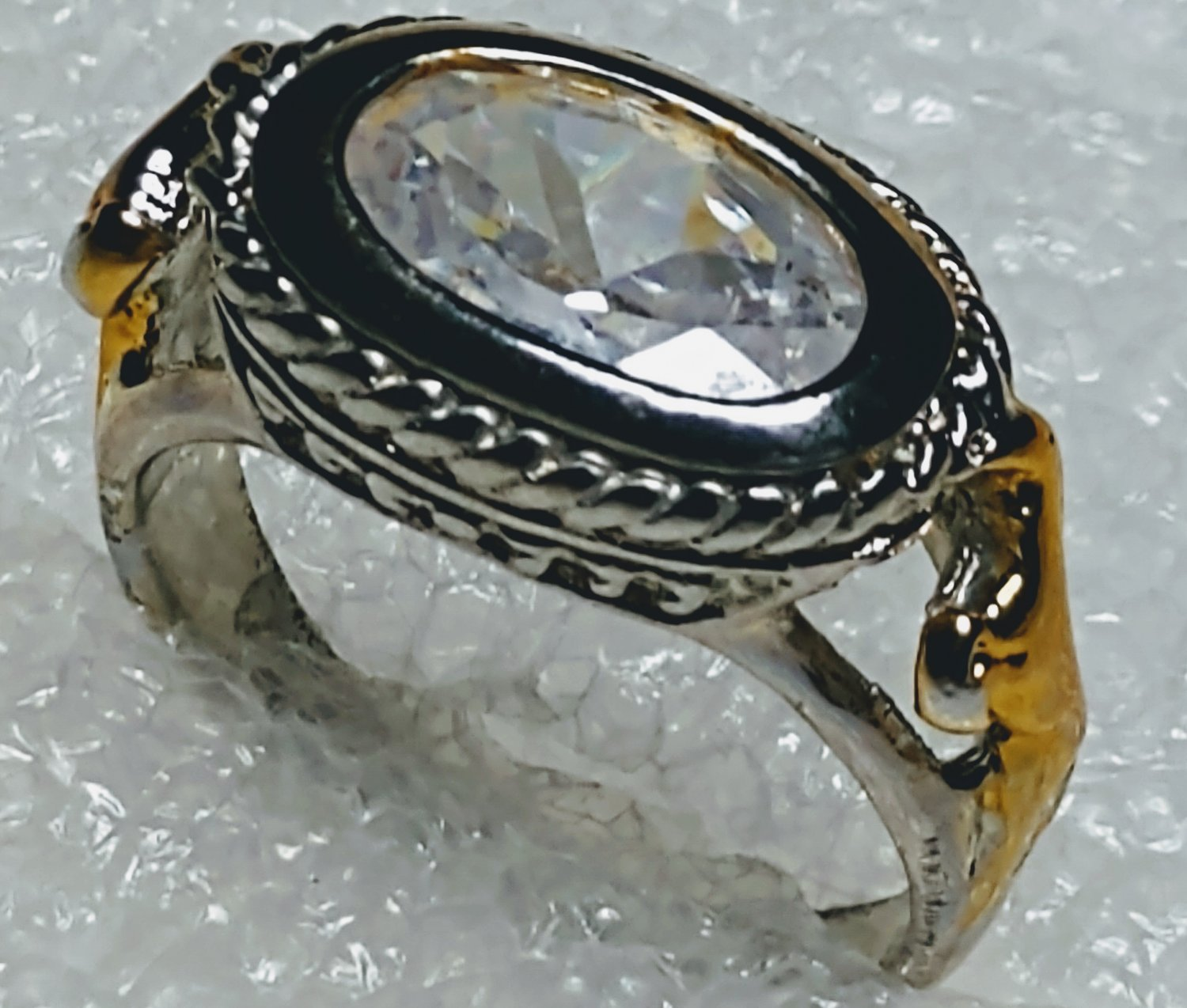 Clear Western Horseshoe Crystal Ring Size 8