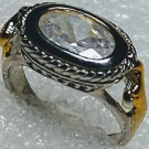 Clear Western Horseshoe Crystal Ring Size 5