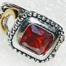 Red Western Horseshoe Crystal Ring Size 6