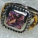 Pink Western Horseshoe Crystal Ring Size 7