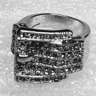 Clear Belt Buckle Ring Size 6