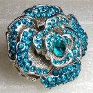 Chunky Blue Flower Ring