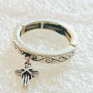 Religious Love Waits Cross Stretch Ring