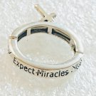 Religious Expect Miracles Cross Stretch Ring