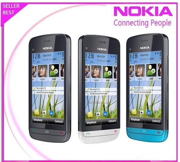 ORIGINAL Nokia C5-03 Graphite C Black 100% UNLOCKED GSM Smartphone C5 03 2016 EN