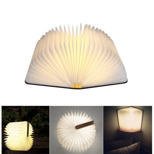 Creative Design 500 lumens LED Flip Origami Book Lamp Nightlights White Light HQ
