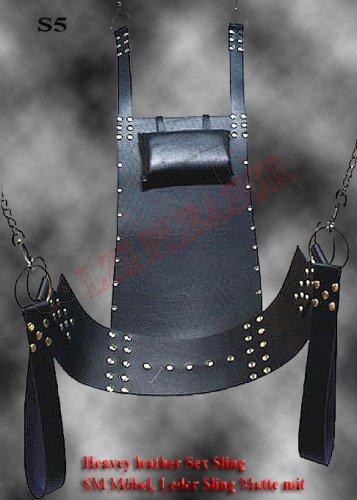 Leather Dulex Sex Sling S5 / SM Möbel, Leder Sling Matte mit