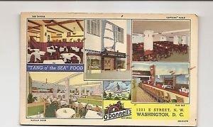 Postcard - O'Donnell's Sea Grill Restaurant Washington DC 1950s - Art Colortone