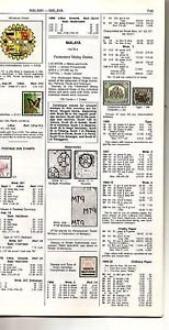 MALAYSIA / MALAYA - color pages taken from SCOTT STAMP CATALOGUE -  2011