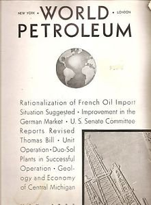 WORLD PETROLEUM Magazine May 1935 France, Michigan, Duo Sol, Oil Gas Chemicals