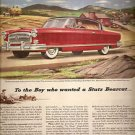 NASH Ambassador Country Club Automobile Advertisement Fortune Magazine Aug 1953