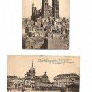 Postcards - CLERMONT-FERRAND FRANCE 1910s Cathedral + Place de Jaude