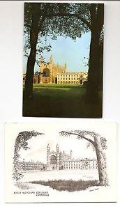 POSTCARDS - King's College CAMBRIDGE University, England UK