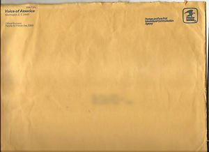 USA Official Penalty Envelope - VOA International Communication Agency 1980