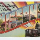 POSTCARD - Greetings from MISSOURI, 1940s