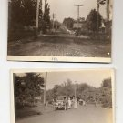 Vintage POSTCARDS 2 photo RPPC Road and Street scenes, car, etc 1910s-1920s?