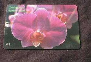 "Singapore Phonecard - ""Barbara Bush"" Orchid / Flower - USED No Value"