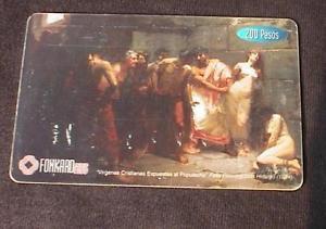 PHILIPPINES Phonecard PLDT P200 card Felix Hidalgo painting USED No Value