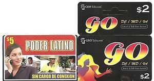 USA PHONE CARDS GEO Telecom / Poder Latino- 2008 - USED / NO AIRTIME