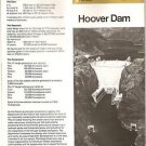 HOOVER DAM Brochure - US Dept of Interior, 1984