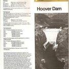 HOOVER DAM Brochure - US Dept of Interior, 1984