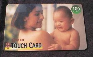PHILIPPINES - PLDT 100P Touch Card Phone card - USED / NO AIRTIME 1999/2000