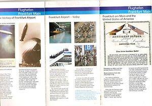 FRANKFURT MAIN Airport - Historical Brochure 1983