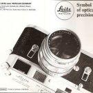 Original Vintage 1969 Product Brochure LEITZ LEICA List 100-12/amerik III/69/FZ