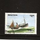 BHUTAN IMO Steam Trawler 1925 Ships /  Used / Scott 746 Postally used