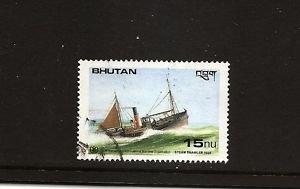 BHUTAN IMO Steam Trawler 1925 Ships /  Used / Scott 746 Postally used