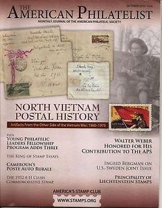 AMERICAN PHILATELIST Oct 2015 North Vietnam, Cameroon, 4-H, Liechtenstein