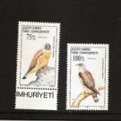 TURKISH CYPRUS Birds of Prey 1997 / Scott 440-41 Fine MNH