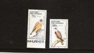 TURKISH CYPRUS Birds of Prey 1997 / Scott 440-41 Fine MNH