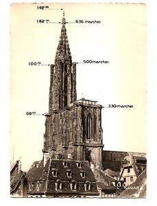 Postcard - Strasbourg Cathedral FRANCE 2 cards