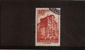 MONACO Cathedral 1949 50fr Used Scott 231 Yvert 313B