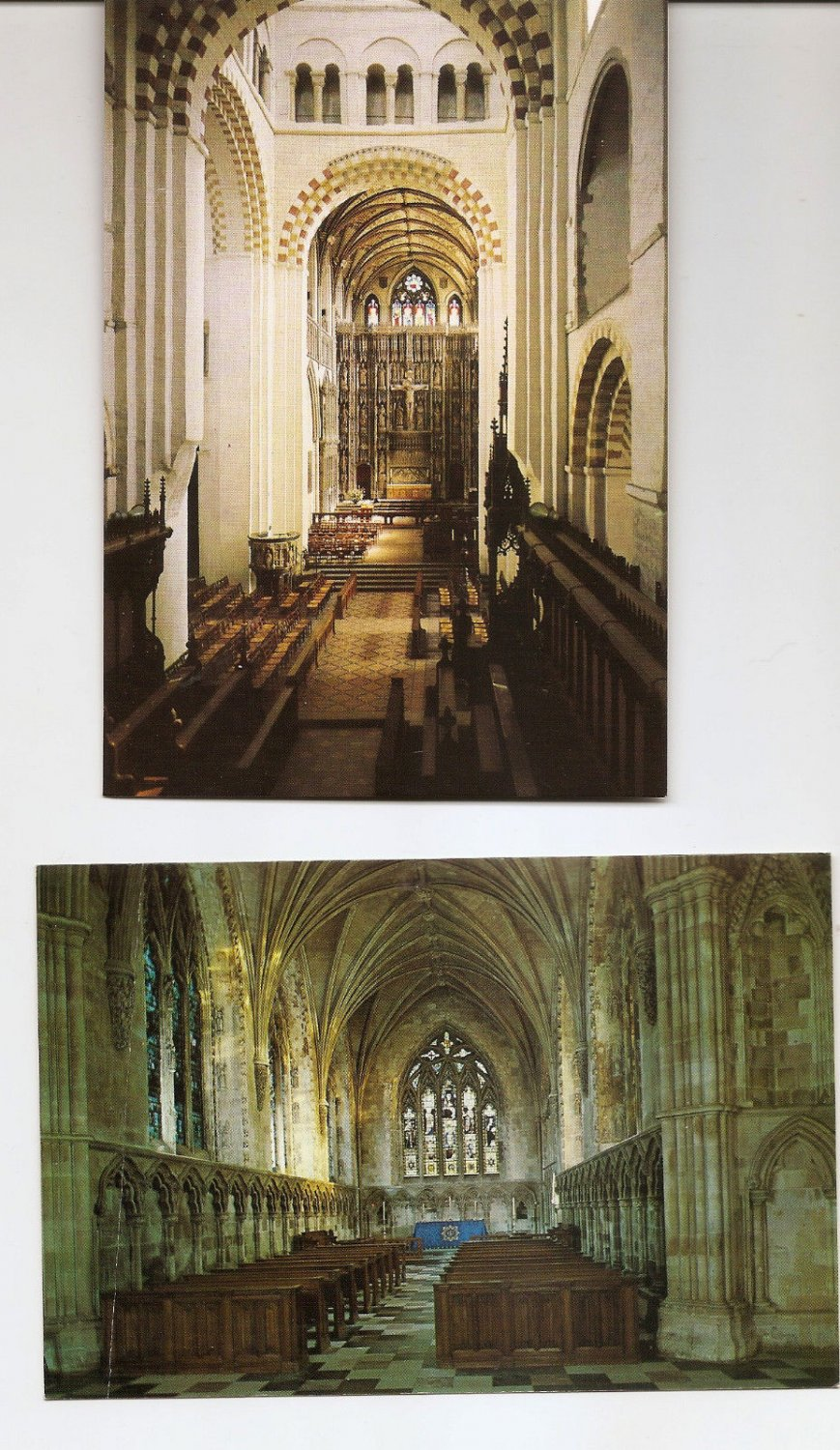 POSTCARDS - St Albans Cathedral and Abbey Church Interior Views  UK