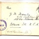 COVER - OCCUPIED GERMANY BRITISH ZONE TO ILLINOIS USA 1946 - CENSORED