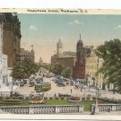 2 Postcards WASHINGTON DC Pennsylvania Ave, State, War, Navy Bldg 1920s Colored