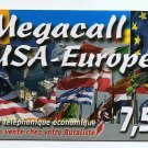 PHONECARD - FRANCE - MEGACALL USA-EUROPE - NO VALUE