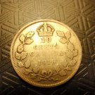 CANADA Coin 10 Cents George V 1916 Worn