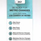 Washington METRO Subway and Bus - Fare and Service Changes June 2017 Brochure