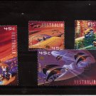 AUSTRALIA - Space fantasy Set of 4 2000 Mint NH BELOW FACE