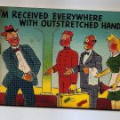 POSTCARD - Humorous Comic Cartoon - Traveller and Tipping - Colourpicture